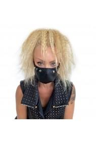 Fashion Mask din piele ECO cu multiple detalii metalice