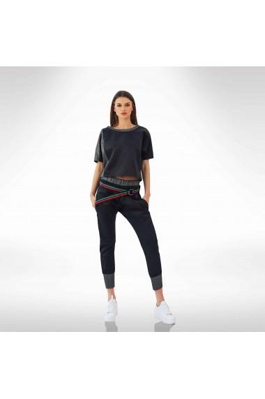 Bluza Sport din satin negru