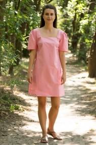Rochie roz BonBon Lewo din bumbac 100% sidefat