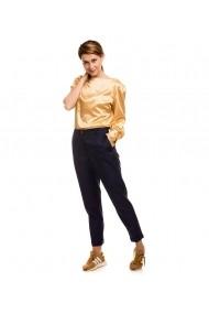 Pantaloni pana Lewo din stofa de lana bleumarin