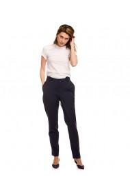 Pantaloni skinny pana Lewo din stofa de lana 100% bleumarin