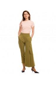 Pantaloni largi Lewo asimetric verde