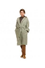 Palton oversize Lewo din stofa de lana verde mint