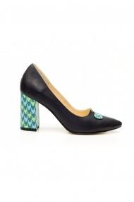 Pantofi Thea Visconti 418-18-613 Bleumarin