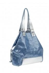 Geanta din piele Thea Visconti G 3-19 Bleu